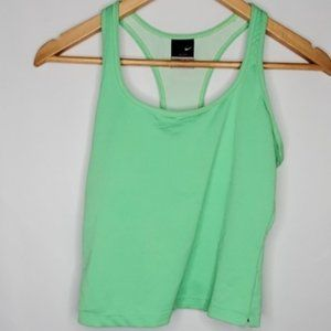 Nike Dri-Fit Green Cropped Tank Top M
